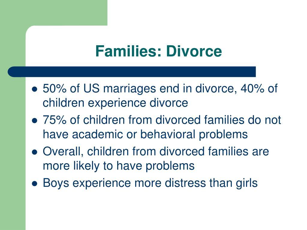 Families: Divorce