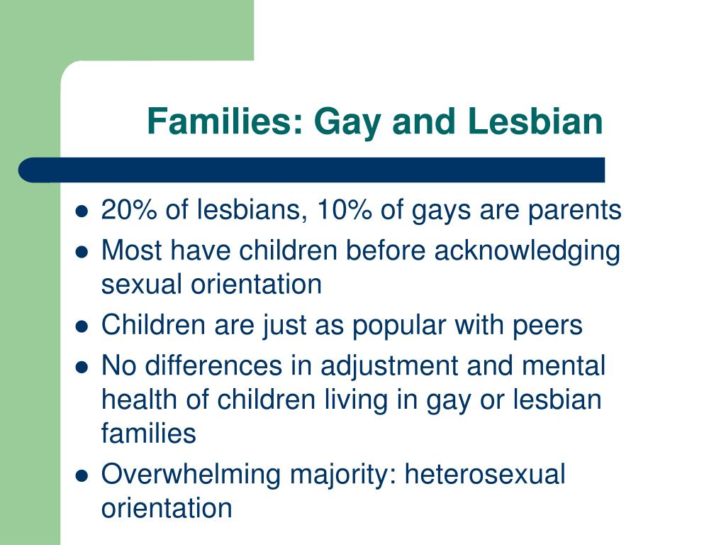 Families: Gay and Lesbian