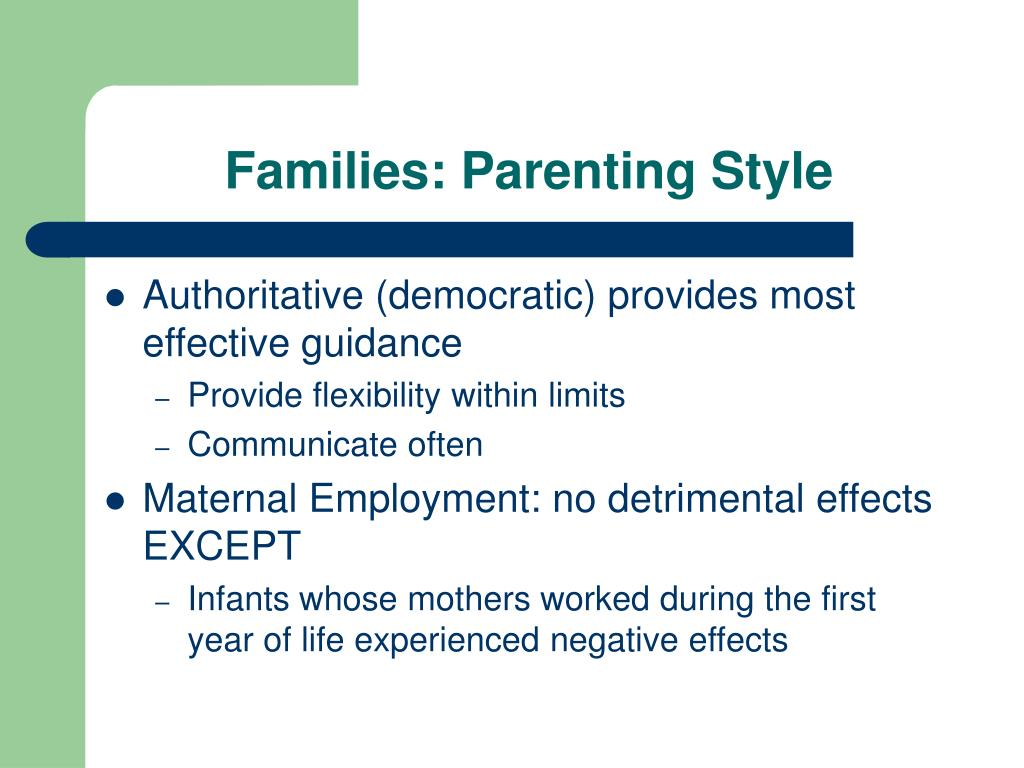 Families: Parenting Style