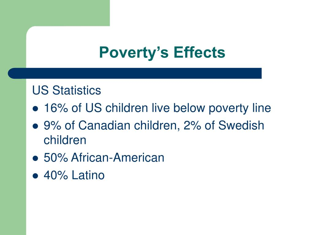 Poverty's Effects