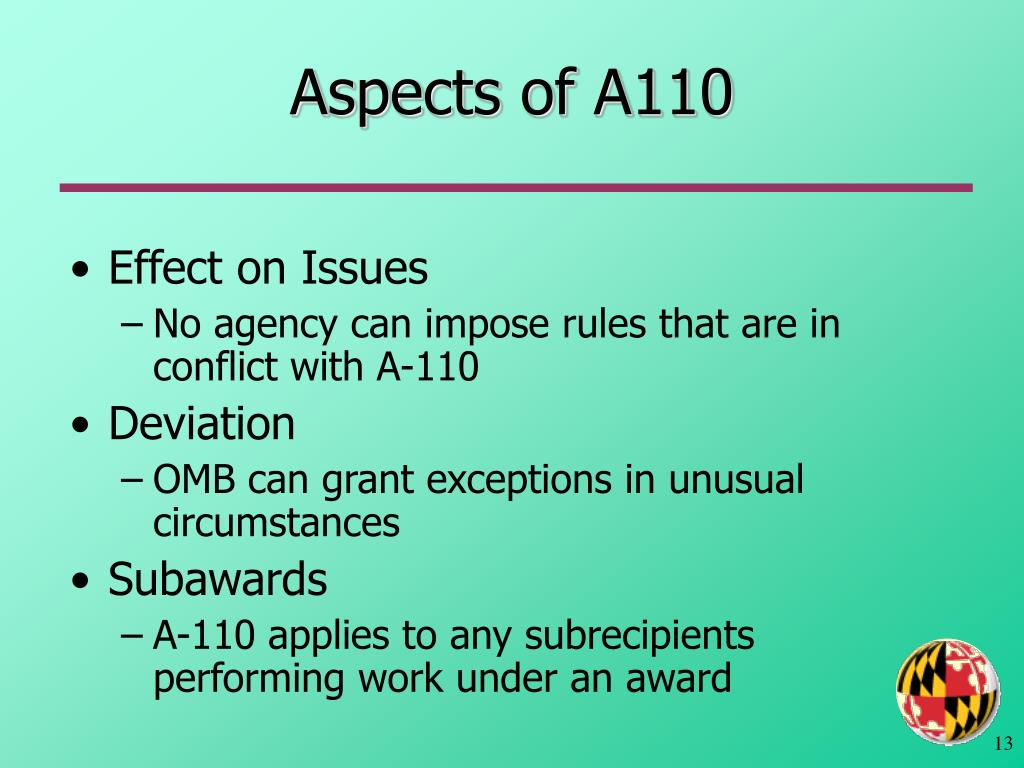 Aspects of A110