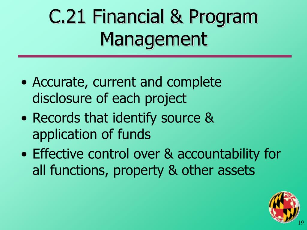 C.21 Financial & Program Management