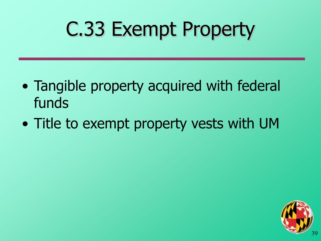 C.33 Exempt Property