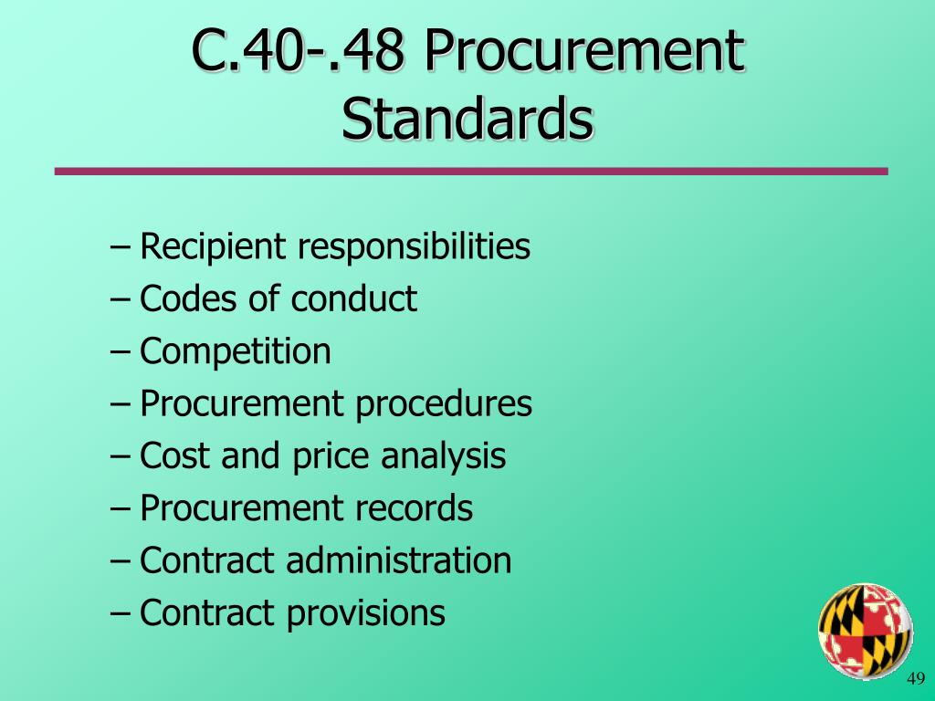 C.40-.48 Procurement Standards