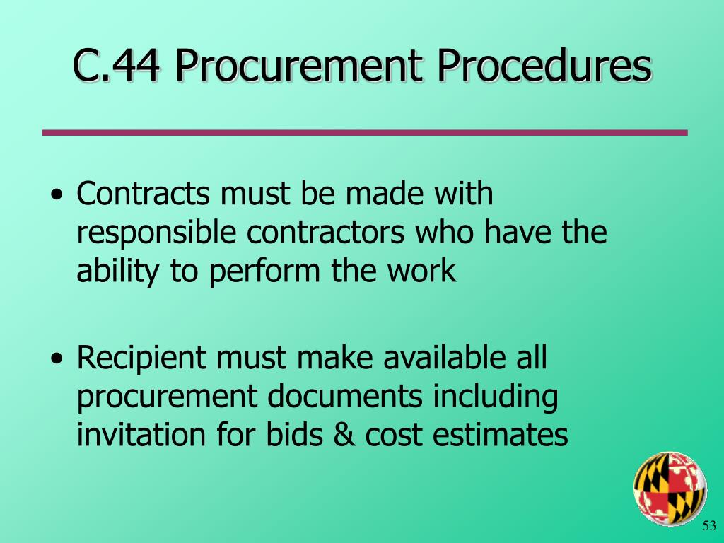 C.44 Procurement Procedures