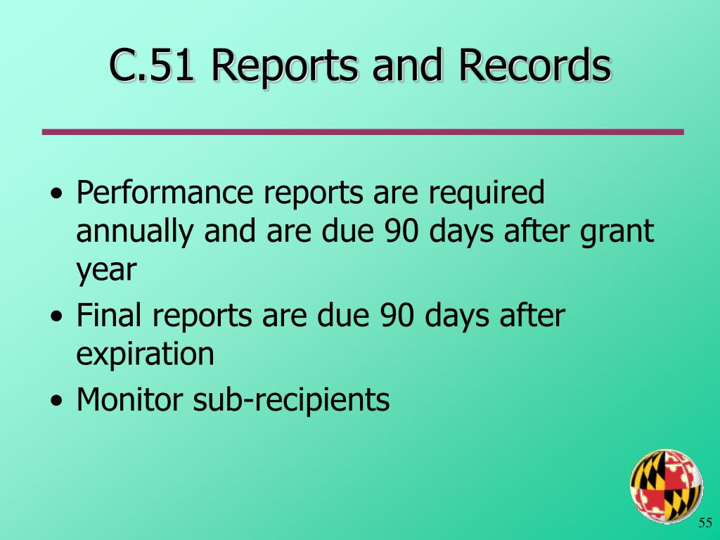 C.51 Reports and Records