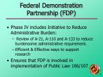 federal demonstration partnership fdp33