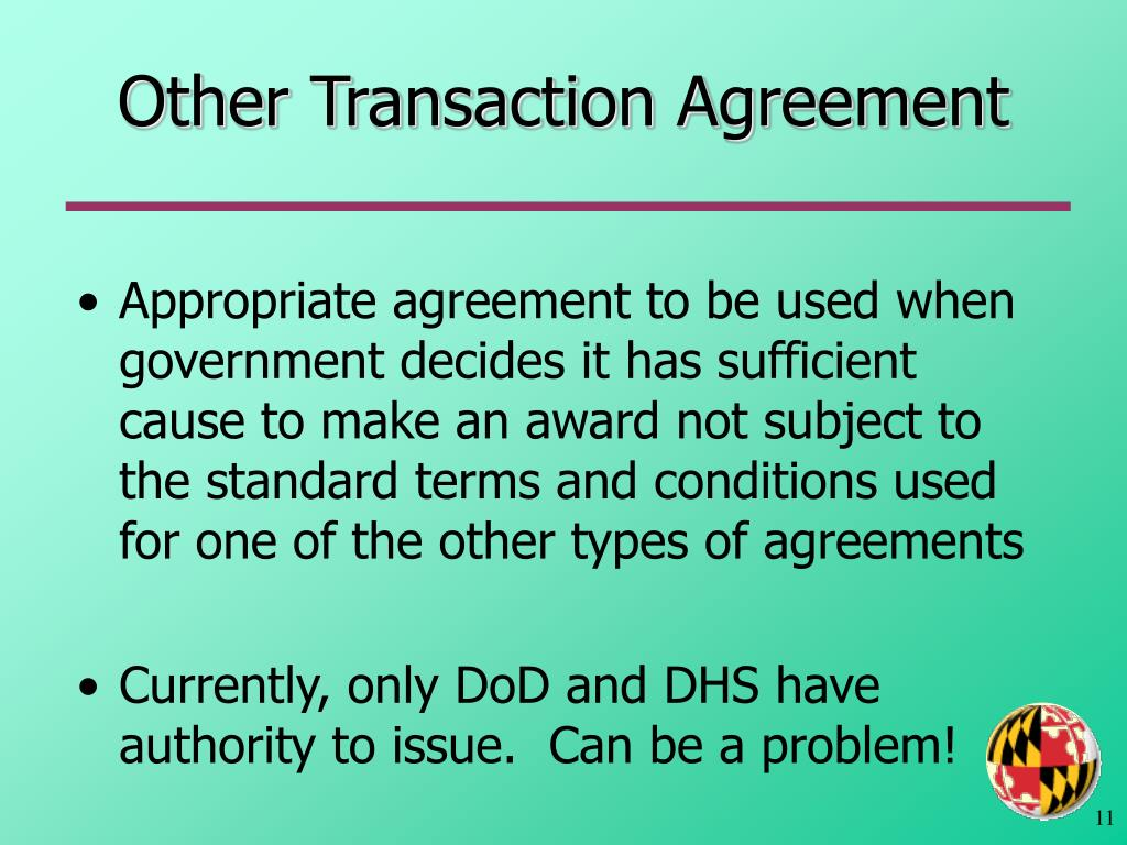 Other Transaction Agreement