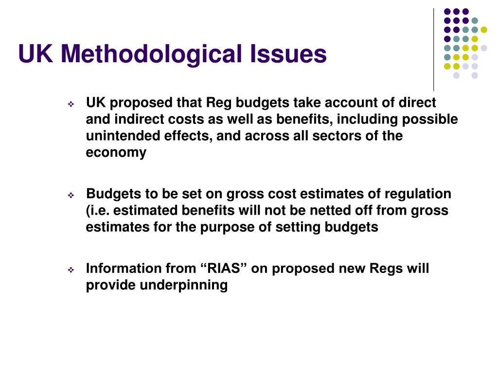 UK Methodological Issues