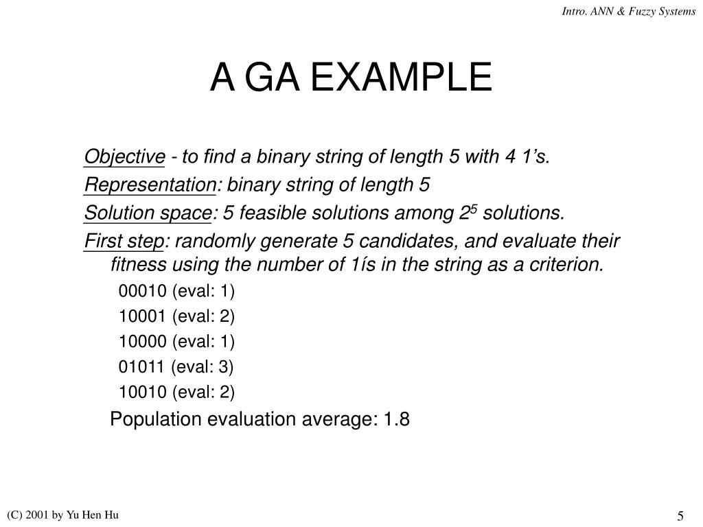 A GA EXAMPLE