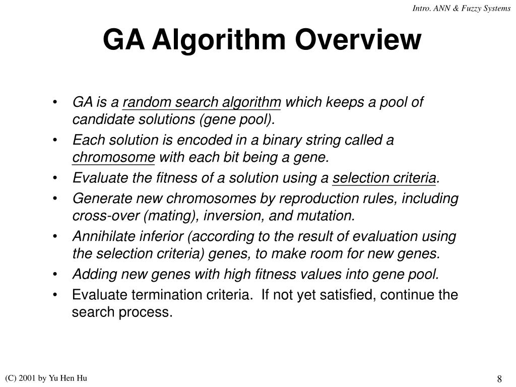 GA Algorithm Overview