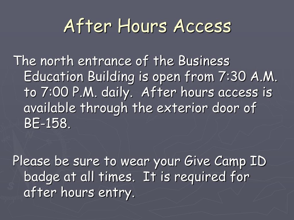 After Hours Access