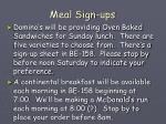 meal sign ups
