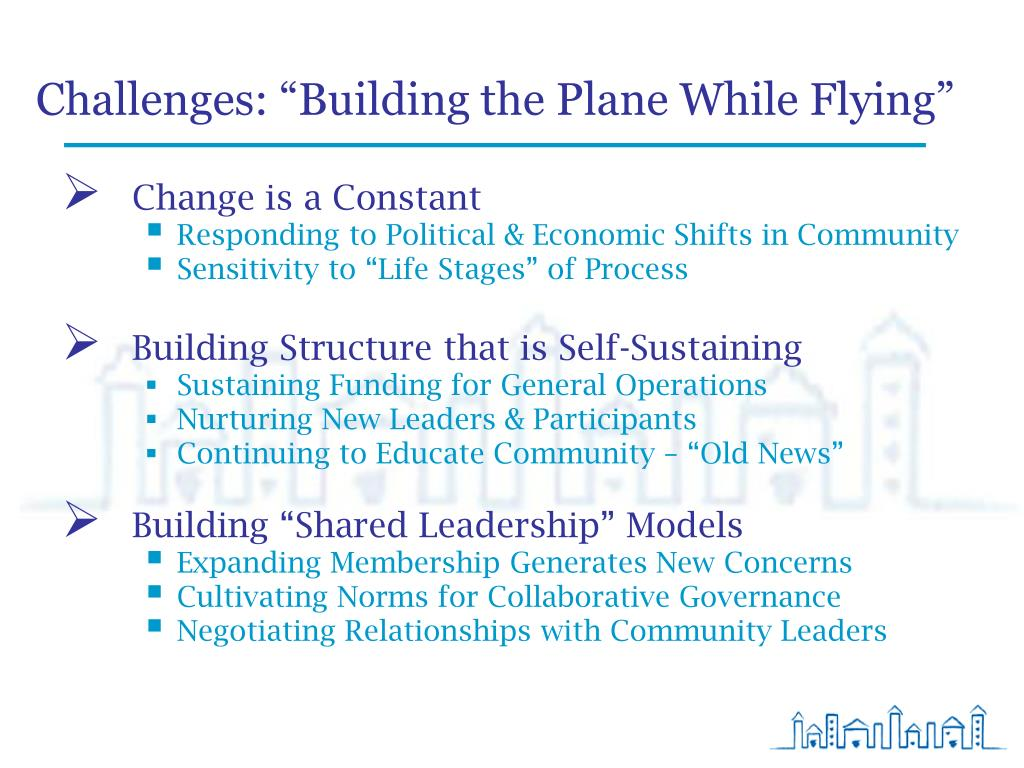 """Challenges: """"Building the Plane While Flying"""""""