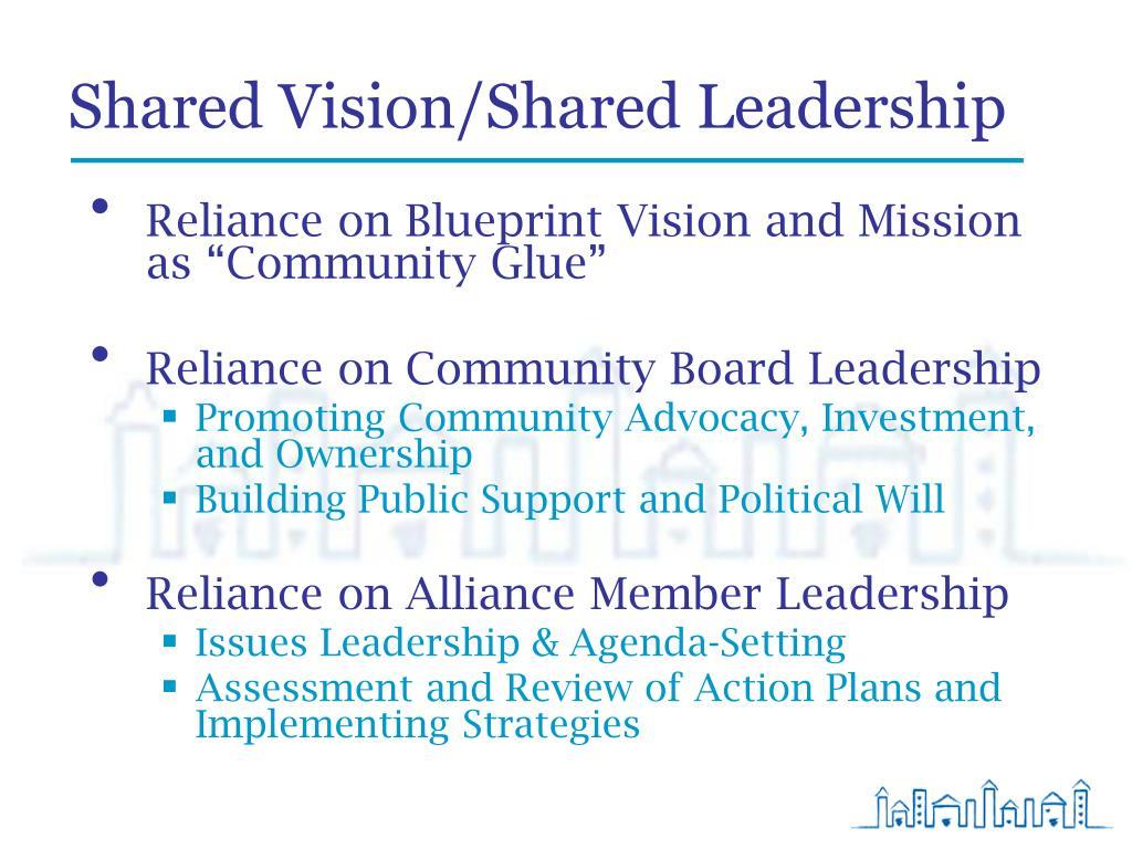 Shared Vision/Shared Leadership