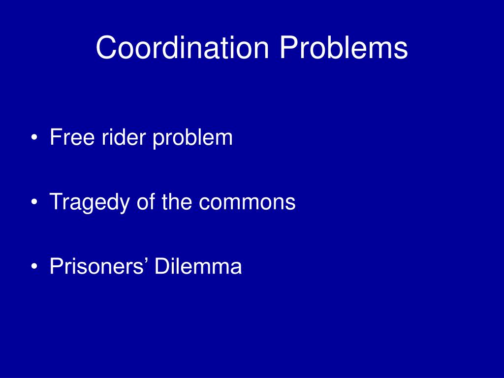 Coordination Problems
