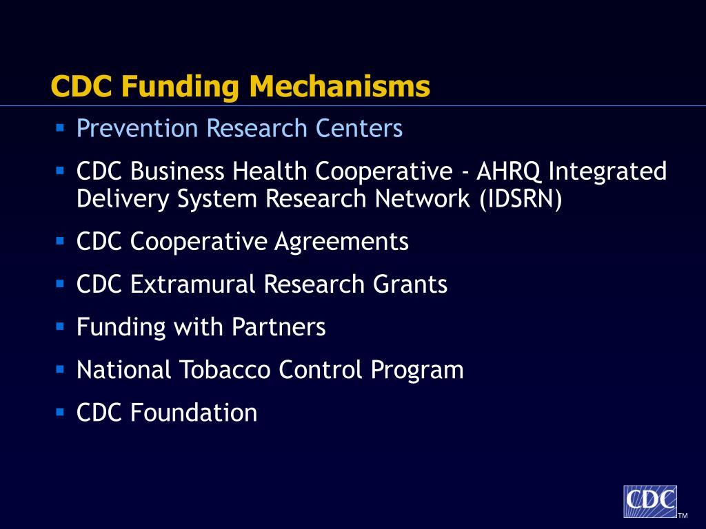 CDC Funding Mechanisms