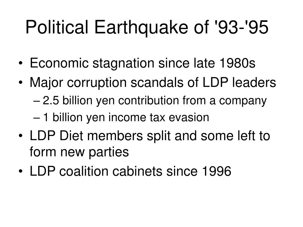 Political Earthquake of '93-'95