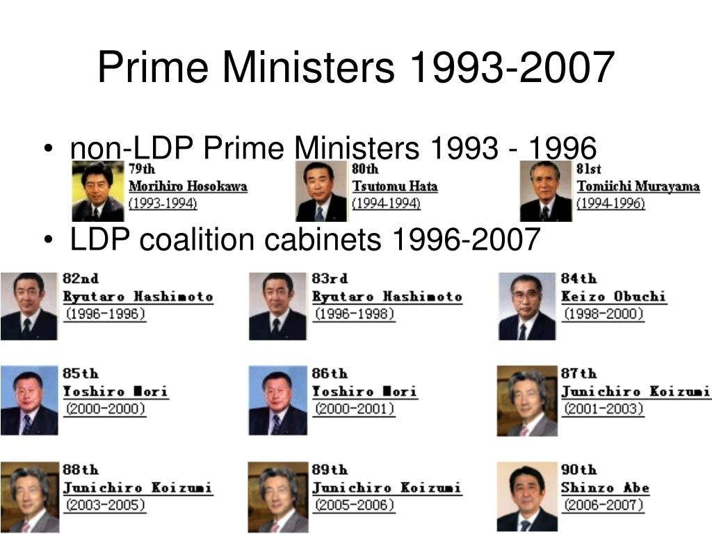 Prime Ministers 1993-2007