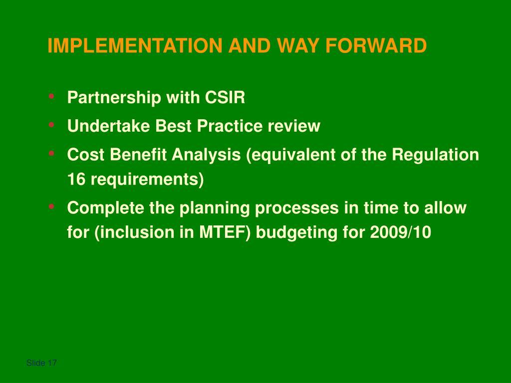 Partnership with CSIR