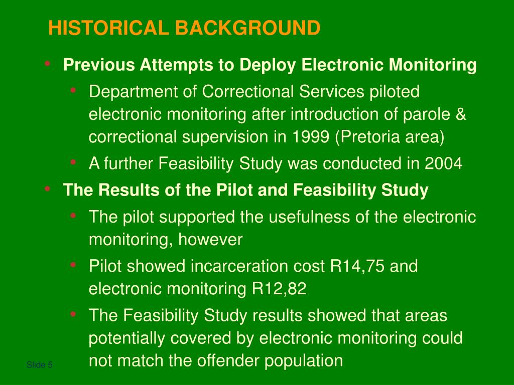 Previous Attempts to Deploy Electronic Monitoring