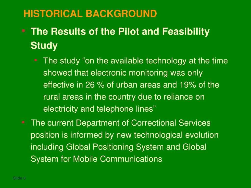 The Results of the Pilot and Feasibility Study
