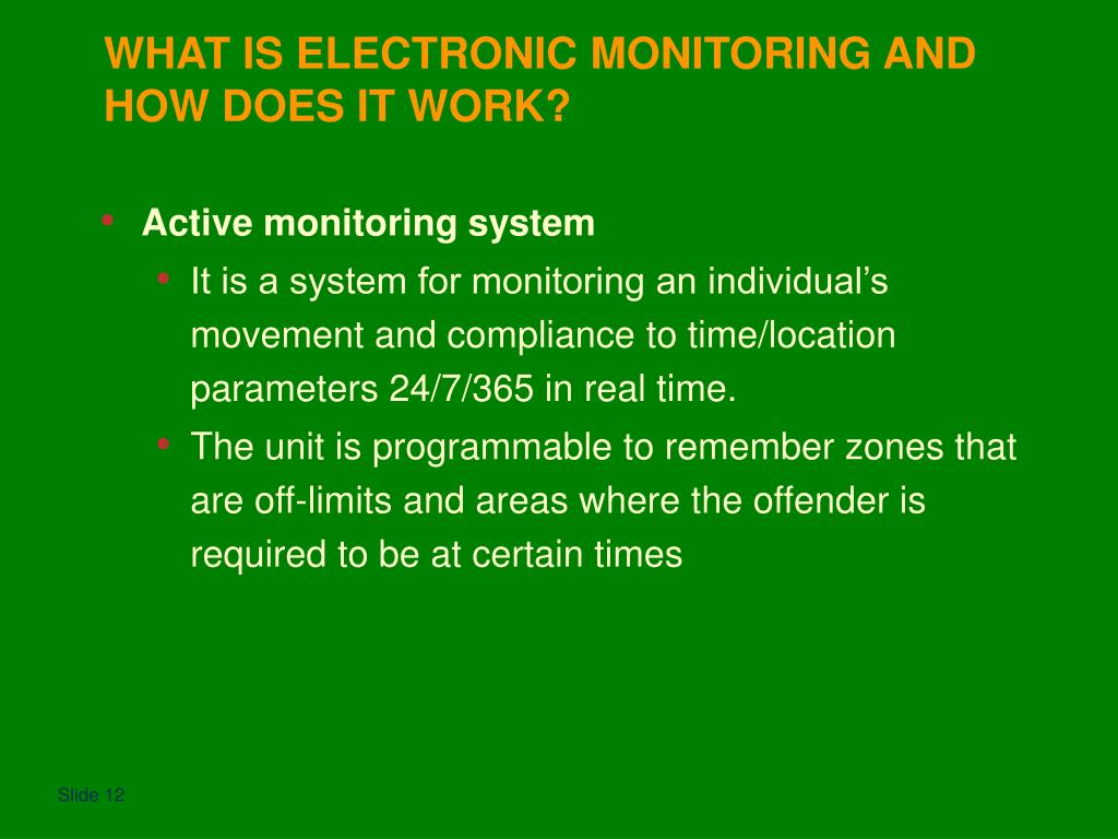 WHAT IS ELECTRONIC MONITORING AND HOW DOES IT WORK?
