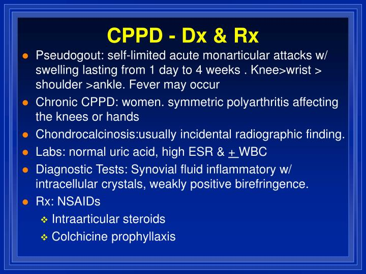 CPPD - Dx & Rx