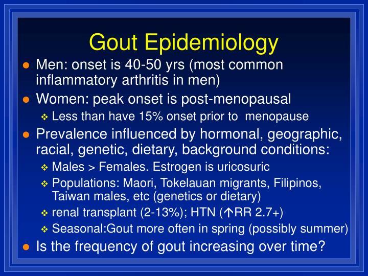 Gout Epidemiology