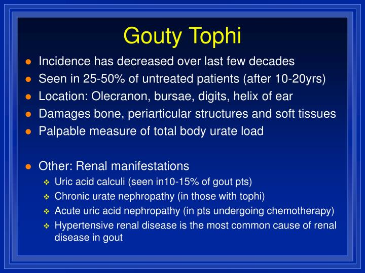 Gouty Tophi