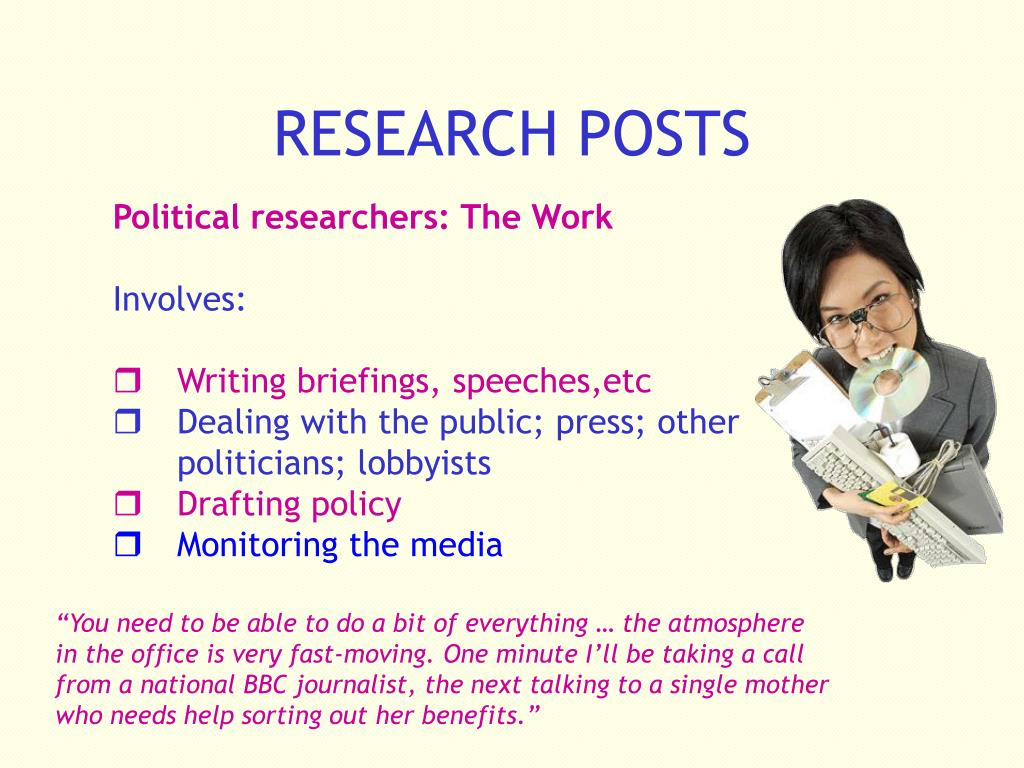 RESEARCH POSTS