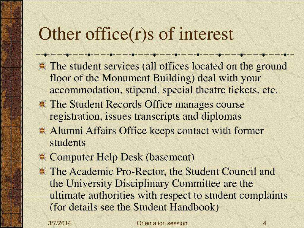 Other office(r)s of interest