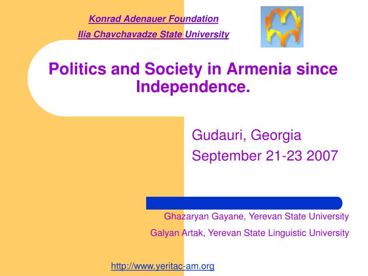Politics and society in armenia since independence