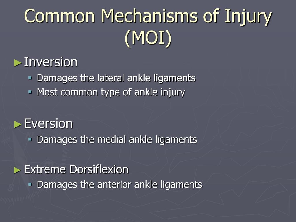 Common Mechanisms of Injury (MOI)