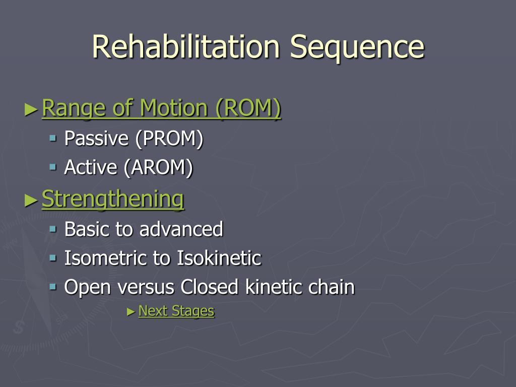 Rehabilitation Sequence