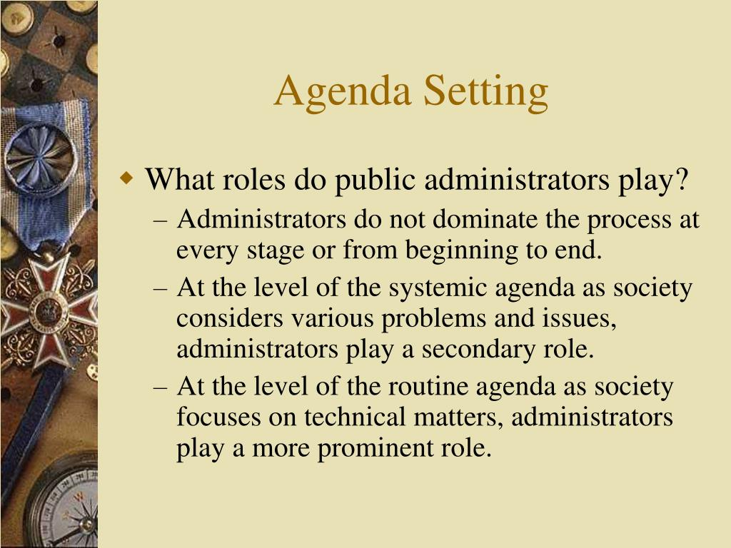 Agenda Setting