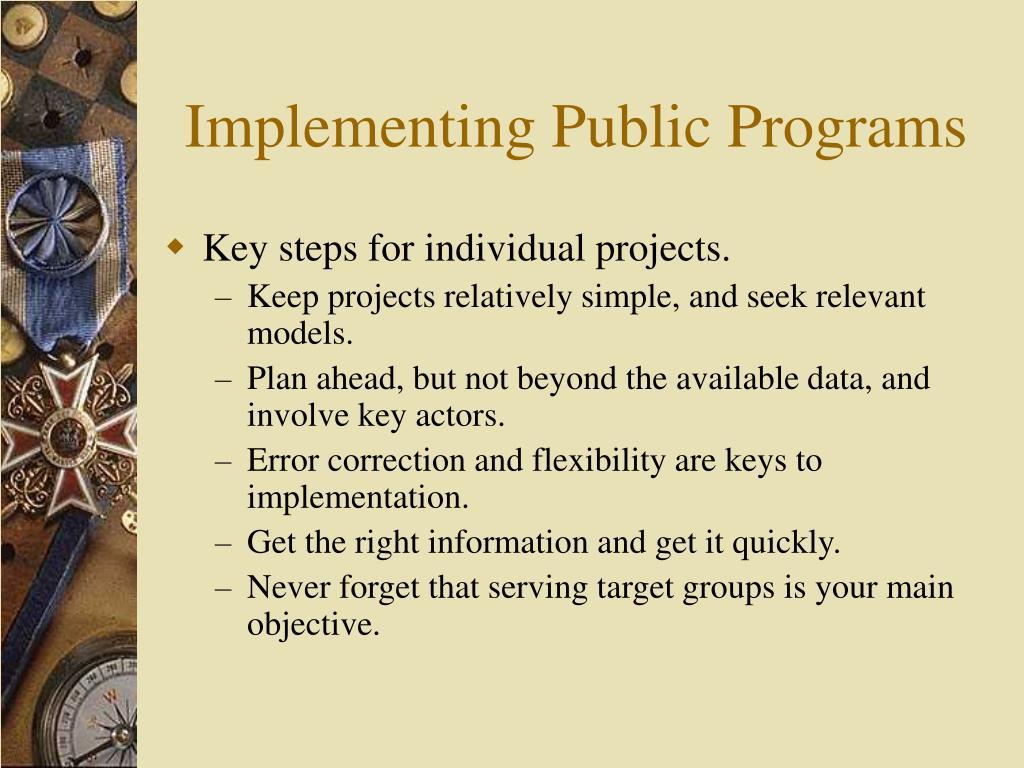 Implementing Public Programs