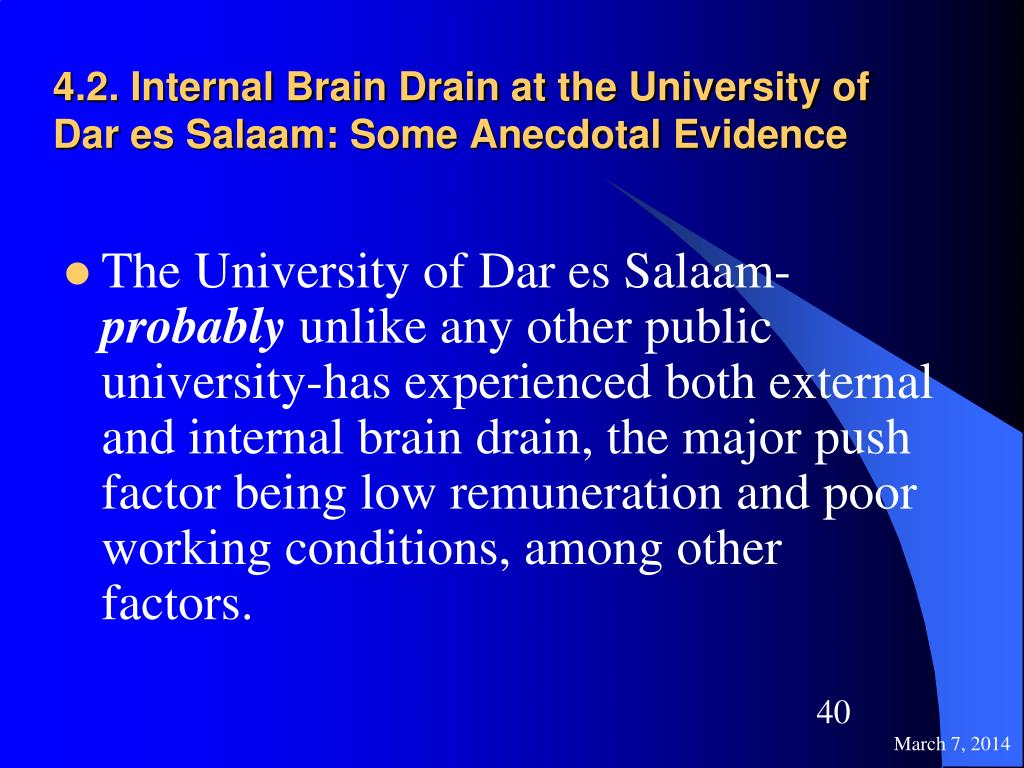 4.2. Internal Brain Drain at the University of