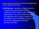 factors influencing external and internal brain drain in sub saharan africa cont12
