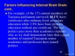 factors influencing internal brain drain cont18