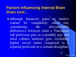 factors influencing internal brain drain cont23