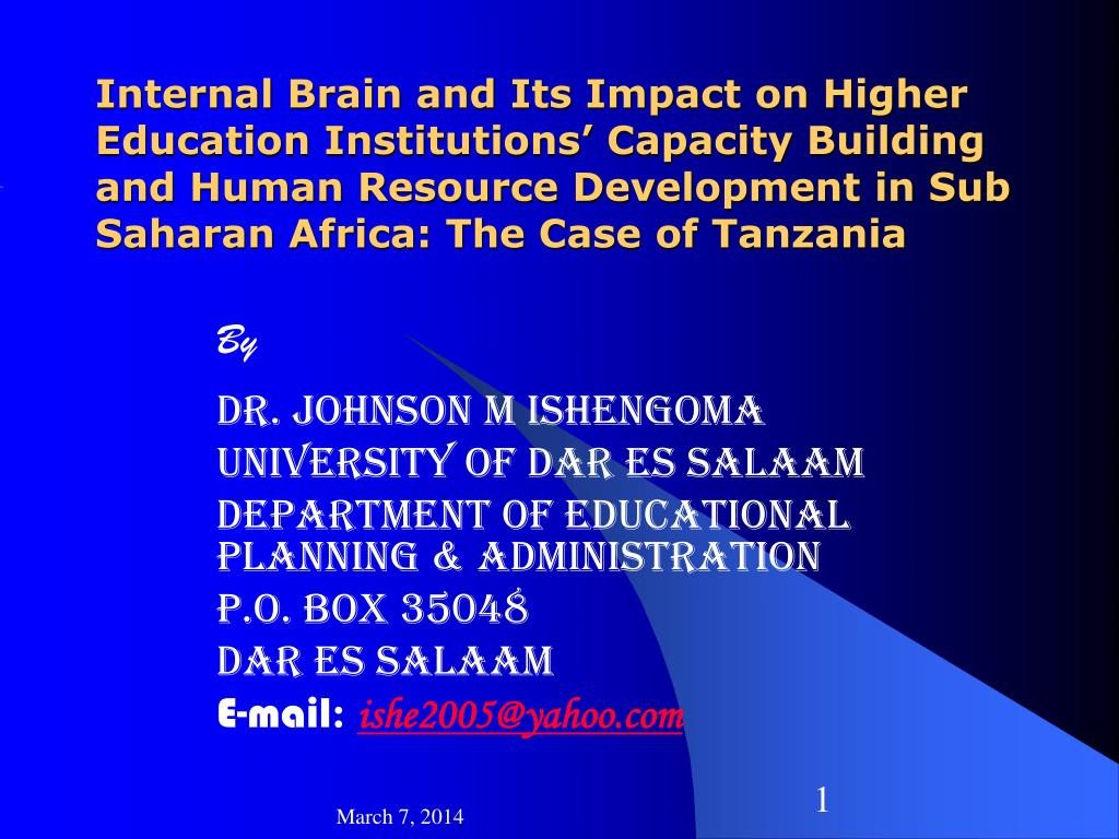 Internal Brain and Its Impact on Higher Education Institutions' Capacity Building and Human Resource Development in Sub Saharan Africa: The Case of Tanzania