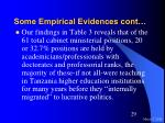 some empirical evidences cont