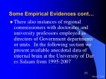some empirical evidences cont33