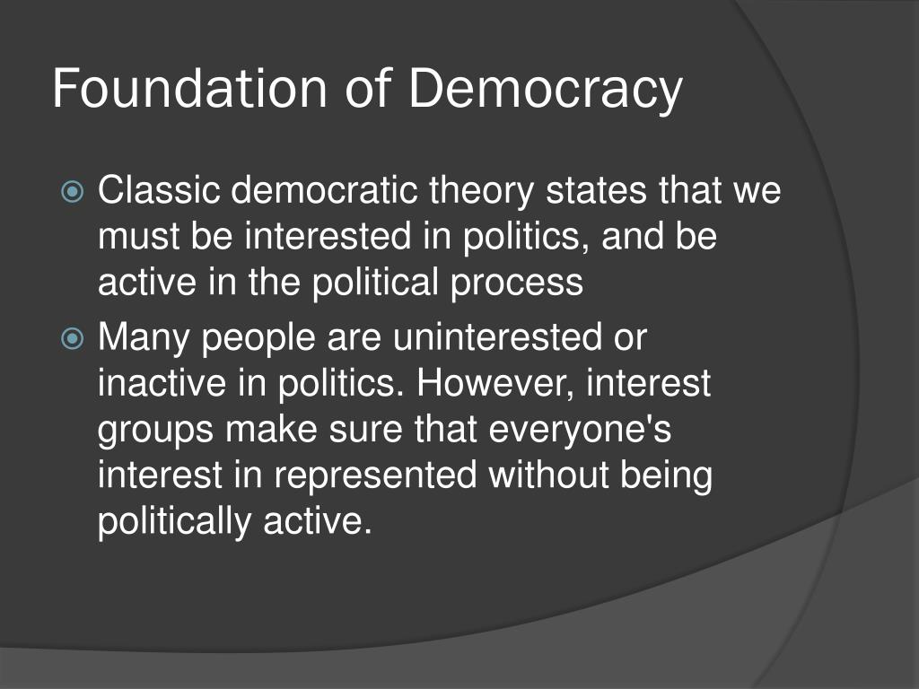 Foundation of Democracy