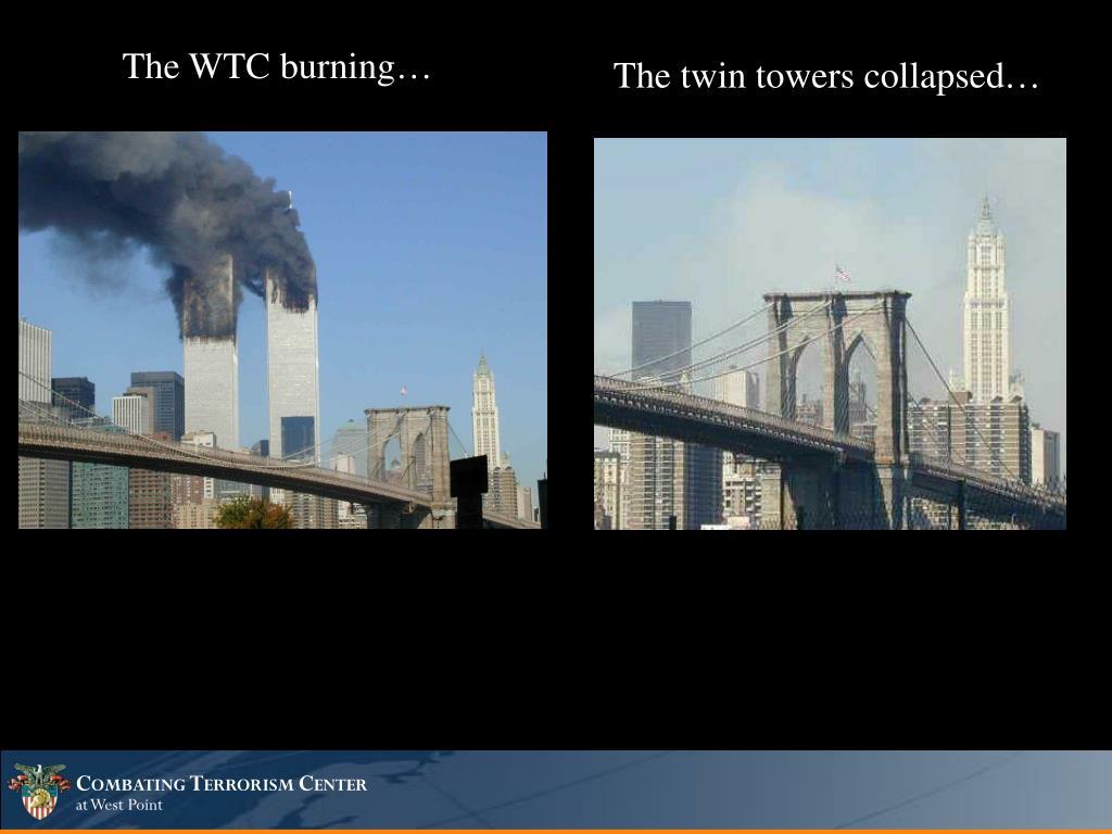 The WTC burning…