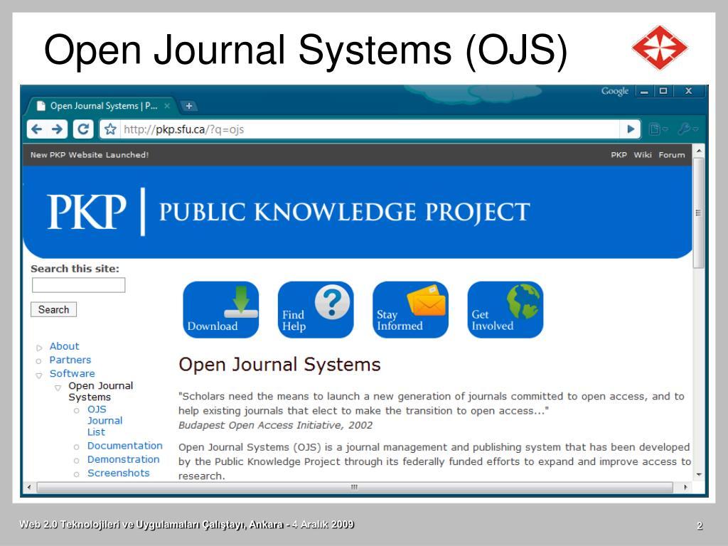 Open Journal Systems (OJS)