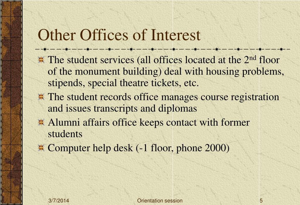 Other Offices of Interest