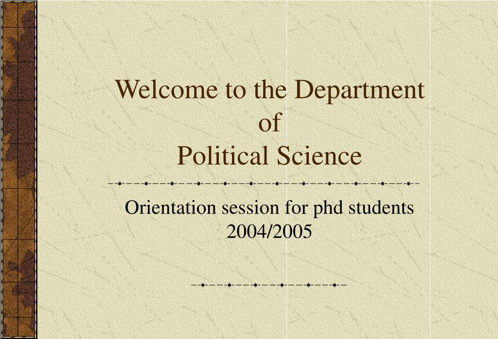 Welcome to the Department of