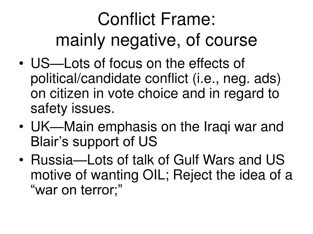 Conflict Frame: